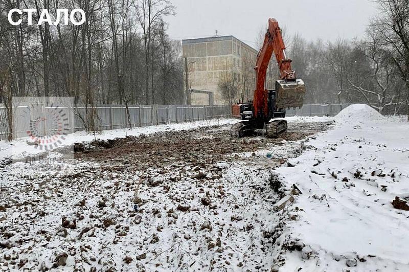 Аварийный многоквартирынй дом снесли в Больших Вяземах