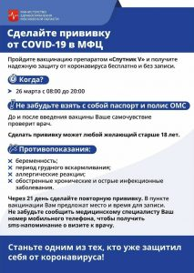 В офисах МФЦ Голицыно и Звенигорода пройдет вакцинация от коронавируса