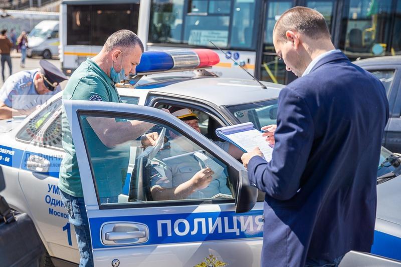 В Одинцове проверили техническое состояние автобусов нескольких маршрутов