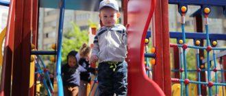 Новая детская площадка в Трехгорке