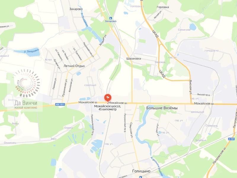 ЖД переезд Голицыно - Звенигород 45 км. на карте