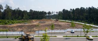 Строительная площадка в парке Малевича