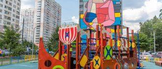 Новая детская площадка в Новой Трехгорке