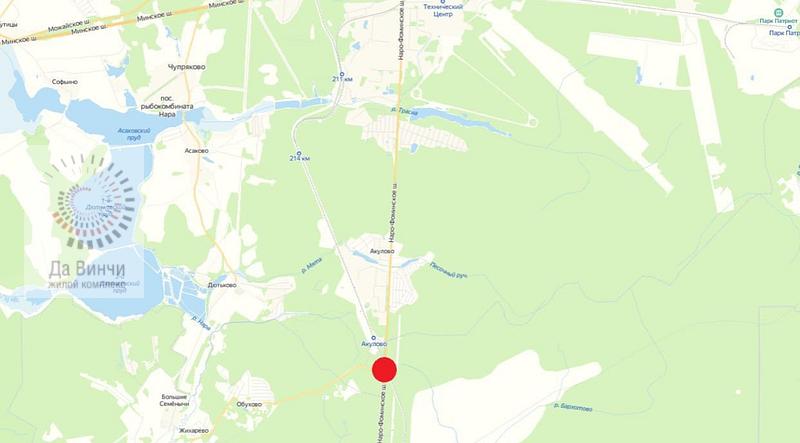 ЖД переезд 218 км (ст. Акулово) на карте